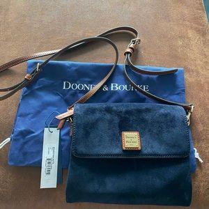 Brand new Dooney & Bourke Suede Crossbody Bag